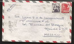 A) 1965 ITALY, MICHAEL ANGEL, EZEKIEL PROPHET, VATICAN, AIRMAIL, CIRCULATED COVER FROM ROMA TO MEXICO. - Italy
