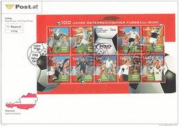 Österreich 2004 Nr. 2460/69 Kleinbogen 100 Jahre Österreichischer Fussballbund - FDC Ersttagsbrief - FDC