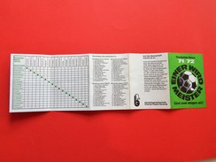 GERMANY - Bundesliga Season 1971-1972 Football Calendar - Einer Wird Meister / FREE SHIPPING - Deportes