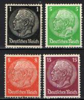 GERMANIA TERZO REICH - 1933 - EFFIGIE DEL MARESCIALLO HINDENBURG - FILIGRANA SVASTICA - NUOVI MH - Ungebraucht
