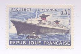 """1325 - Premier Voyage Du Paquebot """"FRANCE"""" (1962) - Ungebraucht"""