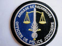 INSIGNE PATCH DE LA GENDARMERIE NATIONALE LA BR OPJ OFFICIER POLICE JUDICIAIRE SUR VELCROS ETAT EXCELLENT - Police & Gendarmerie
