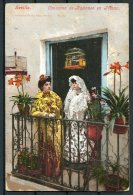 Spain Sevilla Concurso De Balcones En Triana Postcard - Addison Gardens, West Kensington, London - 1889-1931 Kingdom: Alphonse XIII