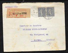 1923 RECOMMANDEE NEUILLY SUR SEINE TO NAPLES - Cartas