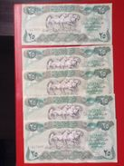 5 Banknoten Zu 25 Dinars Central Bank Of Irak Iraq - Irak