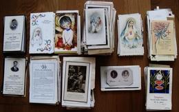 LOT 652 IMAGES PIEUSES, 1ERE COMMUNION, PRIERES, FAIRE-PARTS DE DEUIL - Santini