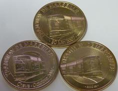 13 MARSEILLE LES 3 MÉDAILLES DU TRAMWAY MEDAILLE MONNAIE DE PARIS 2007 ET 2008 JETON MEDALS TOKEN COINS PAS MONNAIE - Monnaie De Paris