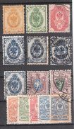FINLAND / Finlande , 1901, Administration Russe,14 Timbres Obl, 1 Neuf (*) TB, Cote 15 Euros - Oblitérés