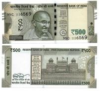 India 500 Rupees P-108 2017 Letter E UNC - India