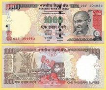India 1000 Rupees P-100a 2006 Letter R UNC - India