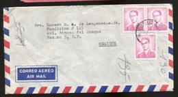 A) 1964 BELGIUM, KING BAUDOUIN, RED STAMPS, ROYAL MAIL, AIRMAIL, CIRCULATED COVER FROM BELGIUM TO MEXICO. - Airmail