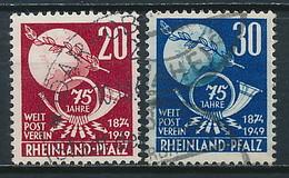 Rheinland-Pfalz Nr. 51-52 ~ Michel 28,-- Euro - Franse Zone