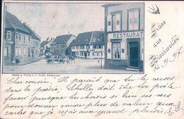 France 67, Gruss Aus Bischweiler, Attelage Et Restaurant (15.9.97) - Bischwiller