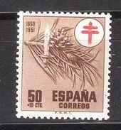 ESPAGNE / ESPANA / SPAIN / SPANIEN ,1950, Yvert N° 810, Oeuvres Antituberculeuses, 50 C + 10 C Neuf ** / MNH TTB - 1931-Oggi: 2. Rep. - ... Juan Carlos I