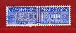 Italia ° - 1981 - Pacchi In Concessione, Lire. 900   Unif. 21.     USATO.  Vedi Descrizione. - Colis-concession