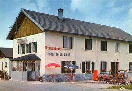 (Doubs) CPSM  Les Longeville Mont D' Or  Hotel De La Gare (bonne Etat) - France