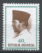 Indonesia 1964. Scott #620 (MNG) President Sukarno, Président Sukarno - Indonésie
