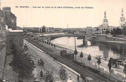 NANTES  - Vue Sur La Loire Et La Gare D'Orléans - Nantes