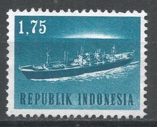 Indonesia 1964. Scott #628 (MNG) Freighter, Cargo, Ship, Bateau - Indonésie