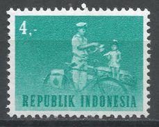 Indonesia 1964. Scott #631 (MH) Mailman With Bicycle, Postier, Vélo - Indonésie