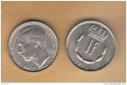 LUXEMBURGO -  1 Franc 1980  KM55 - Luxemburgo