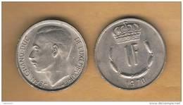 LUXEMBURGO -  1 Franc 1970  KM55 - Luxemburgo