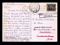 """CALDELAS Postcard """"NÃO CARECE DE NOVA FRANQUIA"""" Multa Portugal 1957 Gc2768 - Port Dû (Taxe)"""