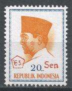 Indonesia 1965. Scott #661 (MH) President Sukarno, Président - Indonesia