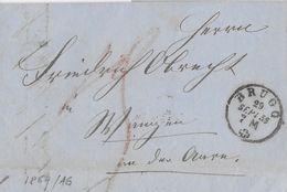 BoM Brief Ohne Marke → 1859 BRUGG - Schweiz