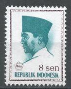 Indonesia 1966. Scott #671 (MNG) President Sukarno, Président - Indonésie
