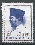 Indonesia 1966. Scott #672 (MNG) President Sukarno, Président - Indonésie