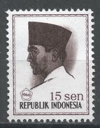 Indonesia 1966. Scott #673 (MNG) President Sukarno, Président - Indonesia