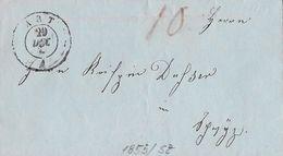 BoM Brief Ohne Marke → 1855 ART Nach SCHWYZ ►an Dufser◄ - Schweiz