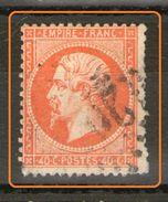N° 23°_E3-7_Etoile 20__orange Vif_dents Courtes - 1862 Napoléon III