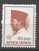 Indonesia 1966. Scott #677 (MH) President Sukarno, Président - Indonésie
