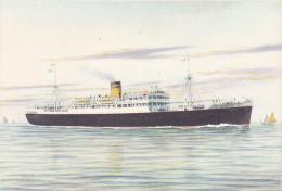 "Carte Illustrée Par Astor - The Hellenic Maditerranean Lines Piraues - Paquebot M/s ""LYDIA"" Pas Circ - Piroscafi"