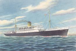 "Carte Illustrée Par Astor - The Hellenic Mediterranean Lines Piraues - Paquebot M/s ""IONIA"" Pas Circ - Piroscafi"