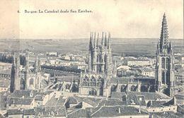1935 , BURGOS , LA CATEDRAL DESDE SAN ESTEBAN , TARJETA POSTAL CIRCULADA - Burgos