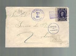 1909 Choluteca Honduras Cover To Leon Nicaragua - Honduras