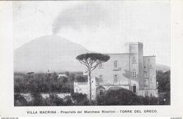 Torre Del Greco-villa Macrina-propieta'del Marchese Rivellini-viagg.1918 X Vitulano- - Torre Del Greco