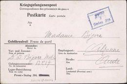 Frontstalag N°204 Formulaire De Peronne Barré Modifié Amiens Somme Censure Gepruft 2 Guerre 39-45 - Marcofilie (Brieven)