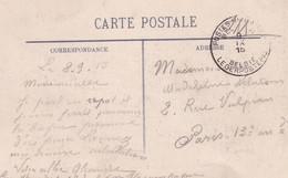 INDRE ET LOIRE - TOURS - CACHET POSTES MILITAIRE BELGE - 9-9-1915. - Postmark Collection (Covers)