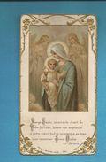 Image Pieuse Vierge Et Jesus Edition BOUASSE JEUNE Frise Dorée Sur Le Contour, Gaufrée - Devotion Images