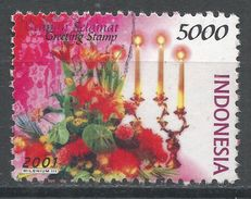 Indonesia 2001. Scott #1944 (U) Greeting Stamp, Various Flowers. Timbre De Salutation, Fleurs Variées - Indonésie