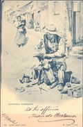1902 , ZAPATERO REMENDON , HAUSER Y MENET , TARJETA POSTAL CIRCULADA - Artesanal