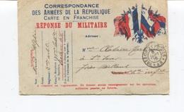 CPA - MILITARIA - Correspondance Des Armées De La République - Réponse Du Militaire En 1916 - 2ème Rgt 71ème Batt. - War 1914-18