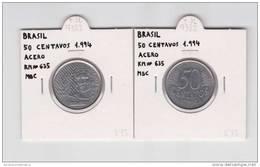 BRASIL  50 CENTAVOS  1.994  ACERO   KM#635     MBC/VF    DL-7382 - Brasil
