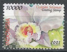 Indonesia 2001. Scott #1945 (U) Greeting Stamp, Various Flowers. Timbre De Salutation, Fleurs Variées - Indonesia