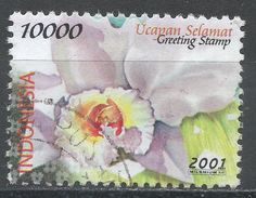 Indonesia 2001. Scott #1945 (U) Greeting Stamp, Various Flowers. Timbre De Salutation, Fleurs Variées - Indonésie