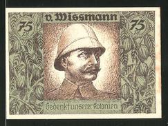 Notgeld Berlin 1921, 75 Pfennig, Kontinent Afrika, Porträt Von Wissmann - Lokale Ausgaben
